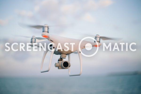 Quadcopter Flying On The Skey