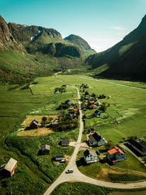 Aerial View Photography Of Villages