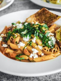 Plate Of Cooked Pasta