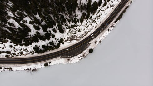 Aerial Photograph Of Road