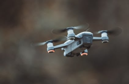 Grey Quadcopter Drone
